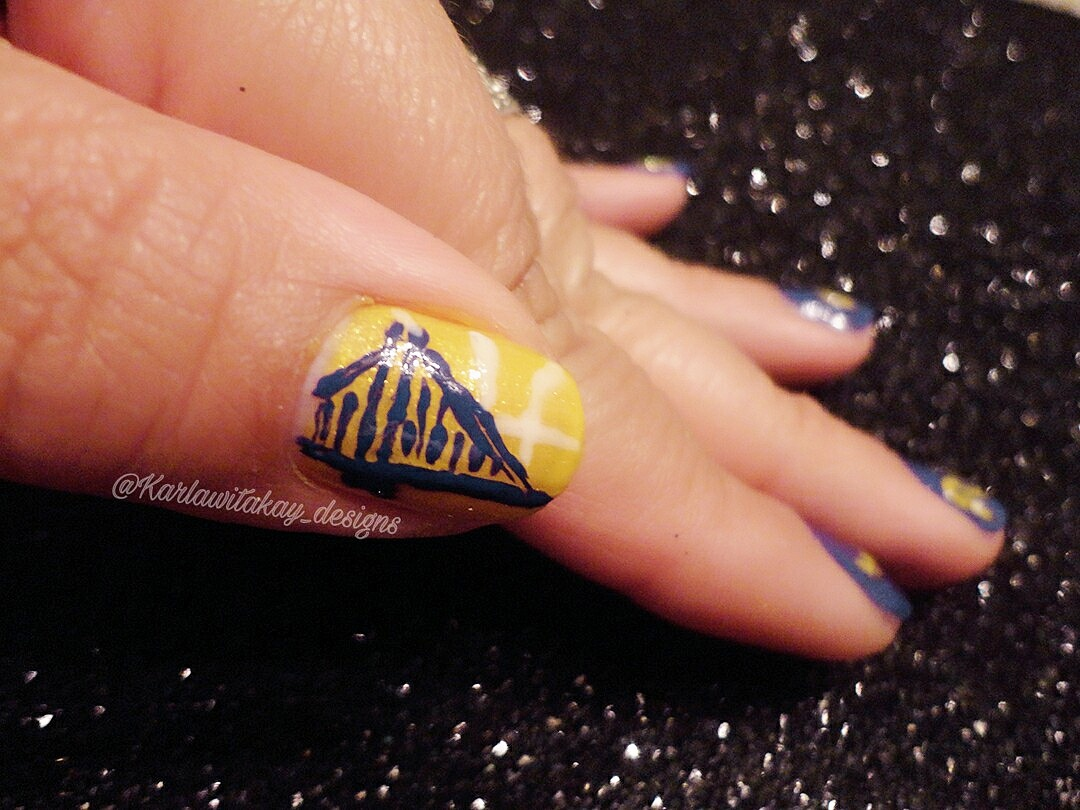 Golden State Warriors Nail Art Karlas Passion For Fashion